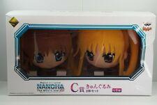 More details for nanoha + fate testarossa japanese anime banpresto ichiban kuji premium plush set
