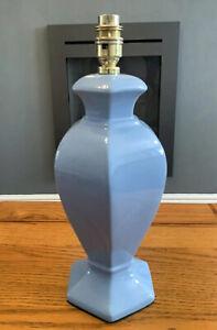VINTAGE HEXAGONAL BLUE TABLE LAMP
