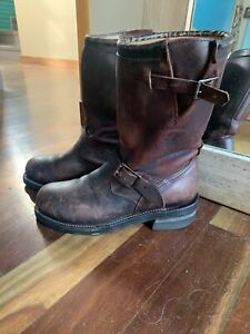 Vintage American Chippewa Leather Boots Ladies US9