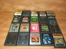 Lot of 21 Atari Video Games Untested. FREE SHIPPING.