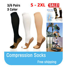 Copper Compression Socks Women & Men(3 Pairs) - Best for Running,Sports,Hiking,