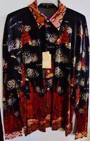 Men's New Creme De Silk Premium Fashion 100% Silk Soft Shirt (RED)