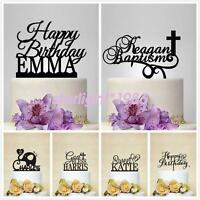 Customized Name Acrylic Toppers Baby Family Birthday Quality Cake Topper New