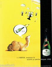 PUBLICITE ADVERTISING  026  2002  Kritter Brut vin mousseux