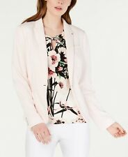 Tommy Hilfiger Women Blazer Baby Pink Size 4 Notch Collar Three Pocket $139 #037