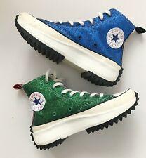 JW ANDERSON Converse Run Star Hike Glitter High-Top Platform Trainers UK 5.5