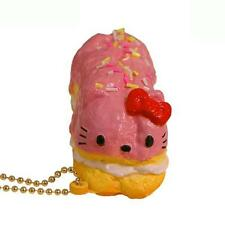 Sanrio Hello Kitty Squishy Sweets Eclair Ball Chain Charm Accessory (Strawberry)