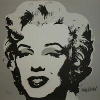 ANDY WARHOL - Marilyn Monroe Grey - Ed. limitada. Firmada y numerada