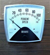 Crompton Percent Speed Meter Type: 016-01 Cat. No.VA-MTEP