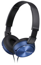 SONY MDR-ZX310AP Comfortable, High Fidelity, Over Ear Headphones Earphones Blue