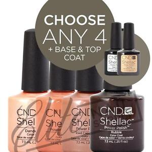 CND SHELLAC Color Coat 7.3ml - Any 4 Colours + Base + Top + FREE Remover Wraps