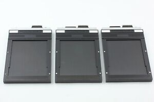 【MINT】 Toyo 4x5  Large Format Cut Film Holder Back lot of 3 From JAPAN #974