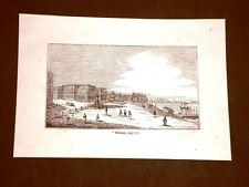 Incisione in rame del 1849 Antica veduta di Odessa, Ucraina