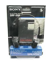 SONY WALKMAN SRF-19W AM/FM STEREO RECEIVER WITH HEADPHONES-NEW