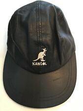 VINTAGE, LE2772 KANGOL LEATHER SPORTS BASEBALL CAP,ADJUSTABLE