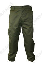 MENS OLIVE GREEN ARMY BDU COMBAT TROUSERS - All Sizes Tough Military Pants