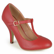 Journee Collection Womens T strap Matte Finish Pumps New