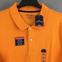 NWT St. John's Bay Men's Orange Heritage Pique Short Sleeve Polo Shirt Sz XXL