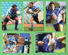 #D294.  5  CANTERBURY BANKSTOWN   BULLDOGS  RUGBY LEAGUE SUPPORTER CARDS