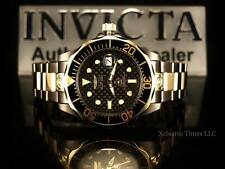 Invicta Men 300M Grand Diver Automatic Black Carbon Dial Gunmetal-Gold IP Watch