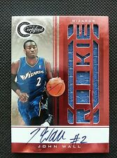 JOHN WALL 2010-11 TOTALLY CERTIFIED RED ROOKIE RC AUTO JERSEY #76/99! AUTOGRAPH!