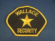 Vintage Wallace North Carolina Security Embroidered Sew On Patch
