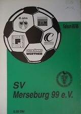 Programm 1995/96 SV Merseburg 99 - VfL Halle 96