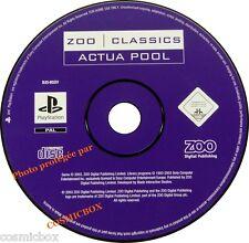PlayStation 1 ACTUA POOL jeu de billard pour console SONY psx ps1 ps2 pal testé
