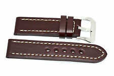 24MM BROWN THICK GENUINE LEATHER WATCH BAND STRAP FIT FOSSIL NATE