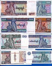 Myanmar / Burma P-68,69,70,71,72,73,74,78,79 Uncirculated Set # 10