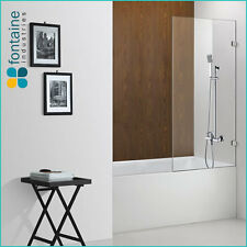 Shower Bath Panel Screen Bathtub 900 1500 Thick 10mm Toughened Glass AU Standard