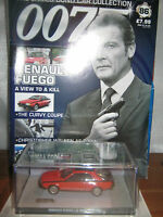 James Bond car collection  ISSUE 86* RENAULT FUEGO & MAGAZINE/Sealed /New