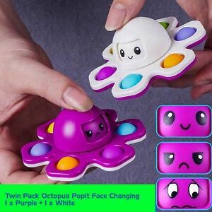 Octopus Popit Spinner Toys Spinning Tops Fidget Sensory Toys UK x 2