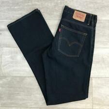 "Mens LEVIS 507 Bootcut Indigo Dark Blue 33""W 36""L Vintage Denim Jeans E3778"