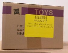 "2013 Star Wars Black Series Wave 1 Sealed Case R2-D2 Darth Maul X-Wing Luke 6"""