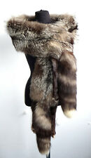 XXL Stole zorro plateado vintage serrucho pelzstole estola Silver Fox fur Fuchs