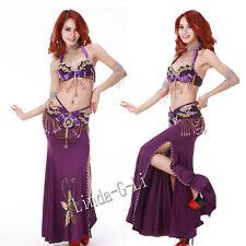 2 Pics New Belly Dance Costume Set  Bra & Belt  US34B 36B 38B US40D 12/2 3