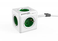 allocacoc PowerCube Extended EU, 5x Steckdose und Verteiler, 230V Schuko, Weiß G