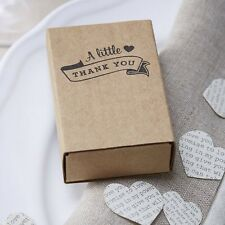 10 kraft matchbox faveur boîtes-vintage affair