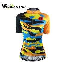 Weimostar Women's Cycling Jersey Pro Team Sports Short Sleeve Clothing S-5XL