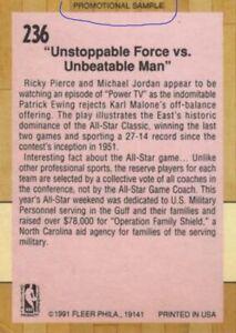 Nov. 1991 Tuff Stuff Jr. with Fleer Basketball Inserts inc. Michael Jordan Promo