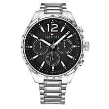 Brand New Tommy Hilfiger Men's Gavin Stainless Steel Silver Black Watch 1791469