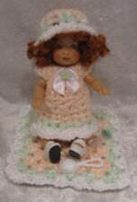Made to fit ELLERY Kish #14 Clothes, Dress, Hat, Blanket, Rattle, Baby Bottle