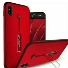 Vivo Y71 Mobile Phone Shell Case With Ring And Stand - RED