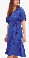 BNWT Studio 8 Phase Eight Orla Wrap Dress, Size 22, Cobalt Blue, BNWT (£110!)