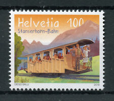 Switzerland 2018 MNH Stanserhorn Railway 125 Yrs 1v Set Trains Rail Stamps