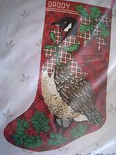 """Candamar Christmas Holiday Needlepoint Stocking Craft Kit,CANADA GOOSE,30447,17"""""""
