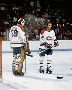 NHL 1979 Ken Dryden & Guy Lafleur Color Montreal Canadiens Color 8 X 10 Photo