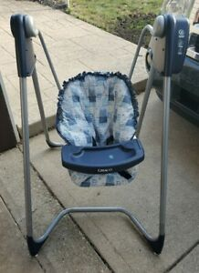 VINTAGE Graco Open Top Swing Battery Operated 6 Speed Easy Entry EUC Baby