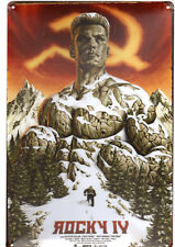 Rocky IV Tin Sign Film Poster Russia Soviet Union Snow Mountain 2018 Creed 2 USA